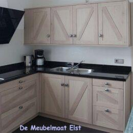 Eiken keuken white wash