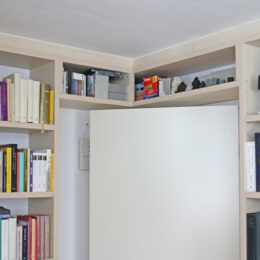 Werkkamer met boekenkasten