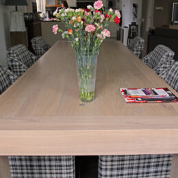 White wash eiken tafel