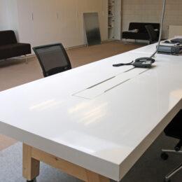 kantoor tafel lang en verrijdbaar