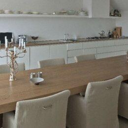 keuken en tafel eikenhout