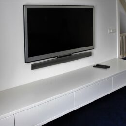 tv dressoir wit hangend